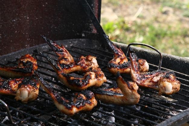 Pernas de frango na grelha