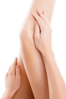 Pernas de mulher isoladas