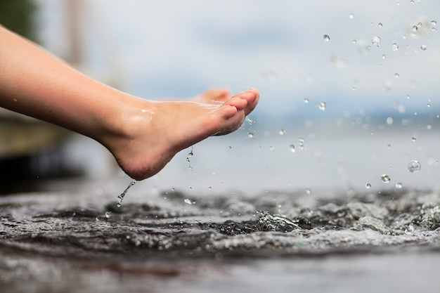 Pernas na água