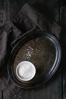 Pérolas de tapioca não cozidas