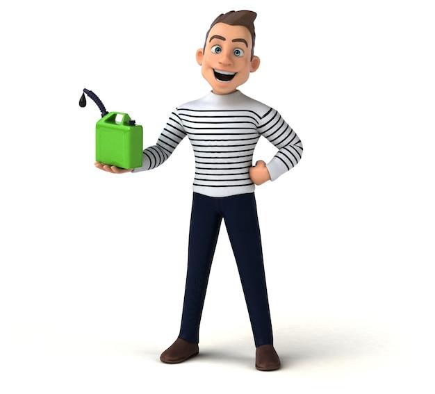 Personagem casual de desenho animado 3d divertido