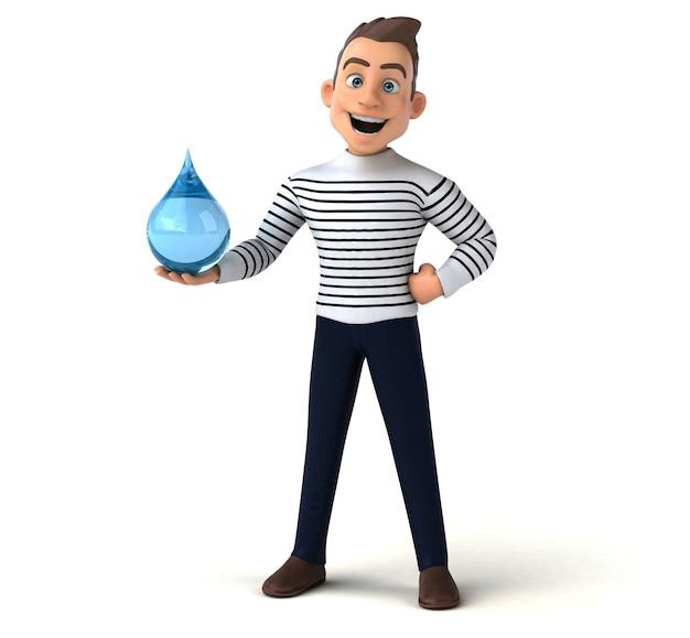 Personagem casual de desenho animado 3d