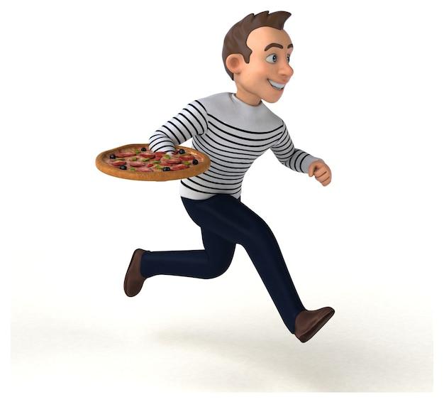 Personagem casual de desenho animado divertido
