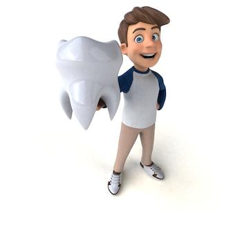 Personagem de desenho animado 3d adolescente engraçado
