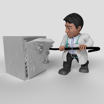 Personagem de desenho animado 3d