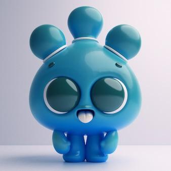 Personagem de desenho animado bonito colorido 3d kawaii