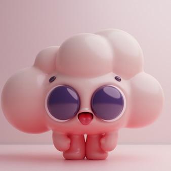 Personagem de desenho animado bonito colorido kawaii