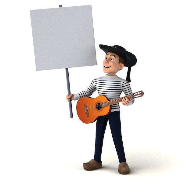 Personagem de desenho animado bretão divertido