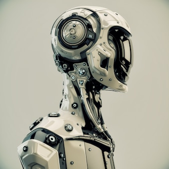 Personagem de robô de ficção científica