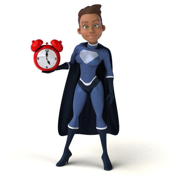 Personagem de super mulher isolada