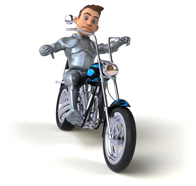 Personagem divertido cavaleiro isolado - ilustração 3d