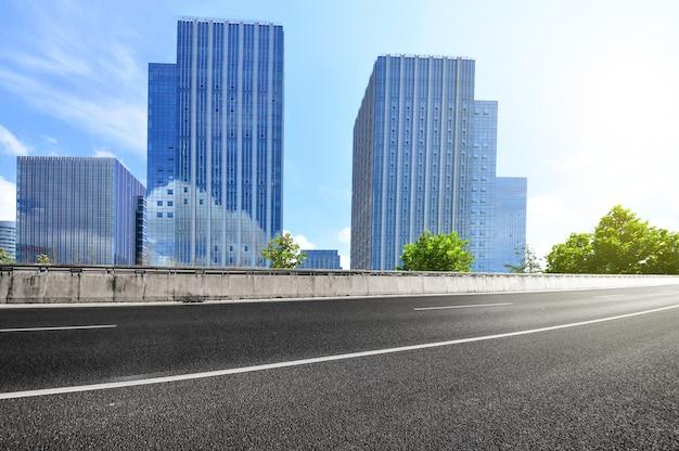 Perspectiva da estrada suspensão de negócios em rápida