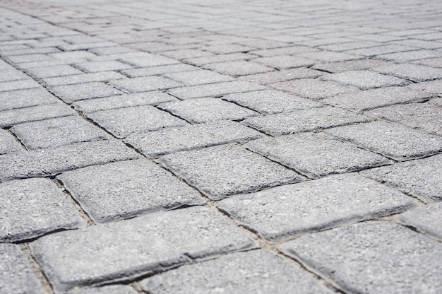 Perspectiva de pavimento de tijolo