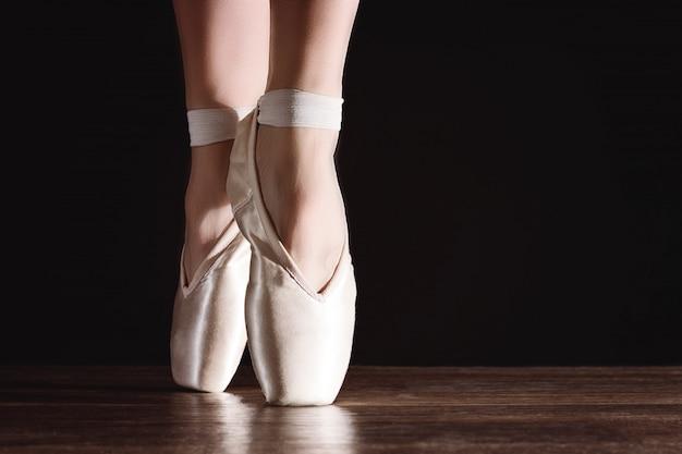Pés de ponta, bailarina