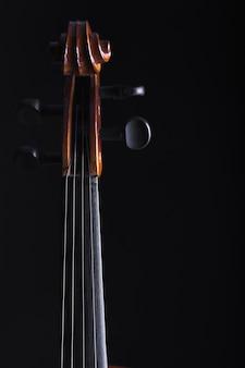 Pescoço e peg caixa de violoncelo