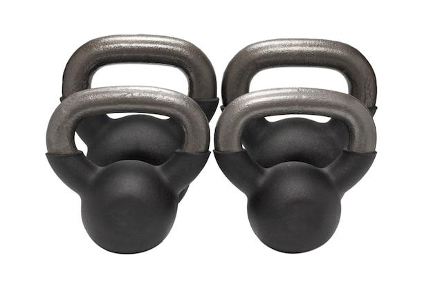 Peso preto isolado no branco. 4 kg de peso. fitness para mulheres.