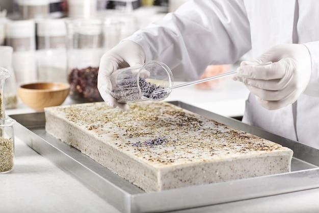 Pesquisador de laboratório de criação de novos tipos de vegetação