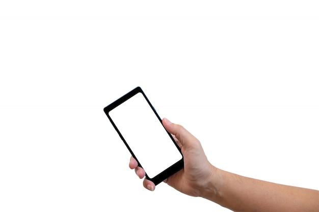 Pessoa mostrando o telefone