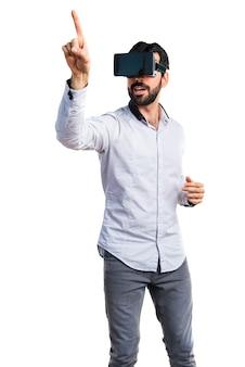 Pessoa virtual do console de visão de lazer