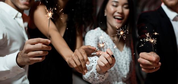Pessoal da festa de ano novo