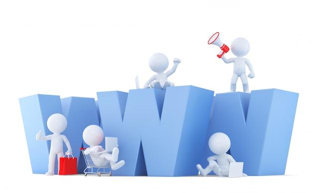 Pessoas com sinal de www. isolado. contém o traçado de recorte.