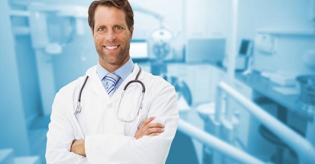 Pessoas de negócios braços cruzados pessoal mobiliário médico