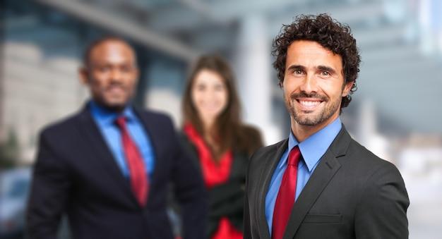Pessoas de negócios multiétnica
