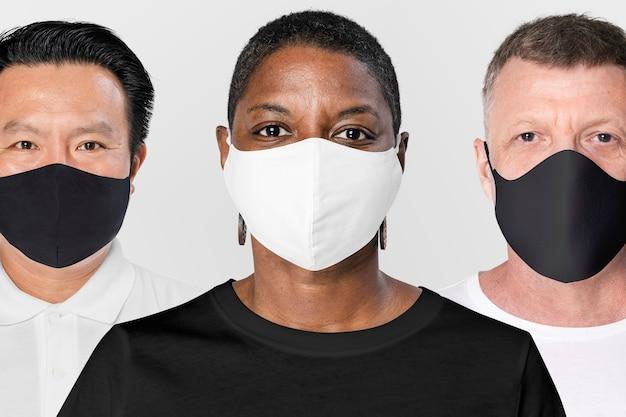 Pessoas em todo o mundo usam máscaras faciais durante a pandemia