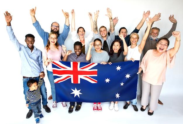 Pessoas felizes da austrália