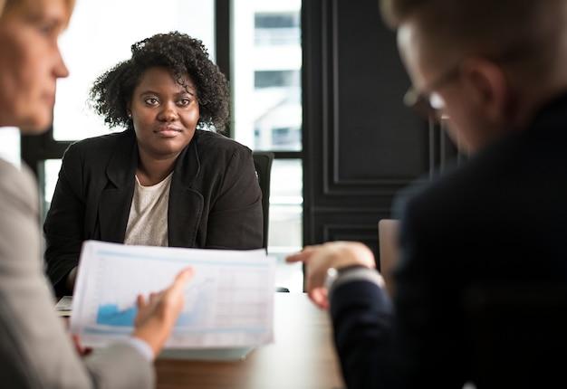 Pessoas negócio, em, um, reunião