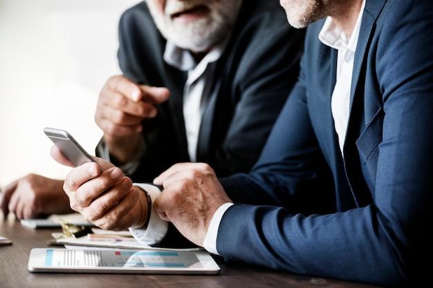 Pessoas negócio, tendo, um, reunião