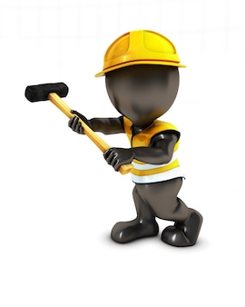 Pessoas que trabalham em construção