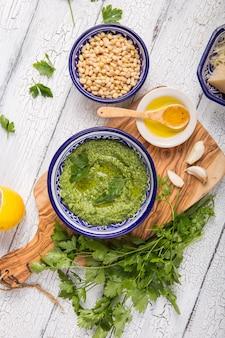 Pesto de salsa verde fresca