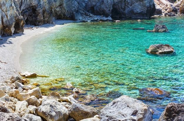 Petani beach summer view kefalonia, grécia