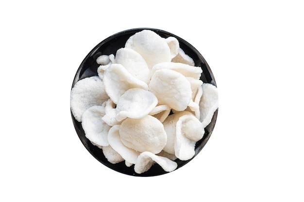 Petisco de tapioca ou salgadinhos de arroz