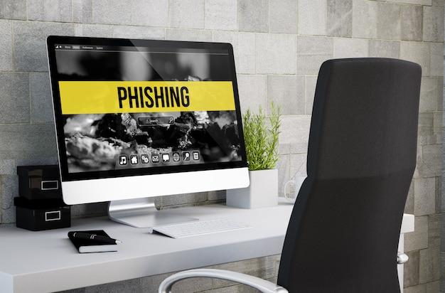 Phishing do espaço de trabalho industrial