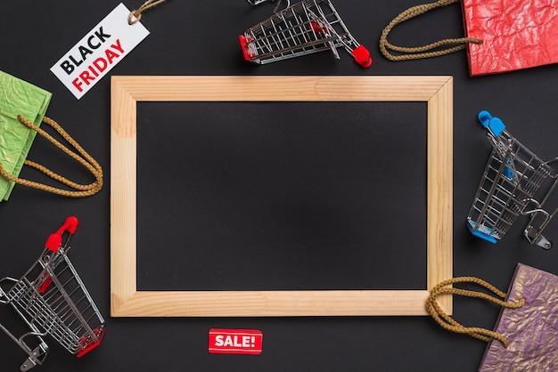 Photo frame, carrinhos de compras, pacotes e tags