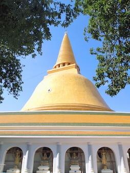 Phra pathom chedi de nakhon pathom tailândia.