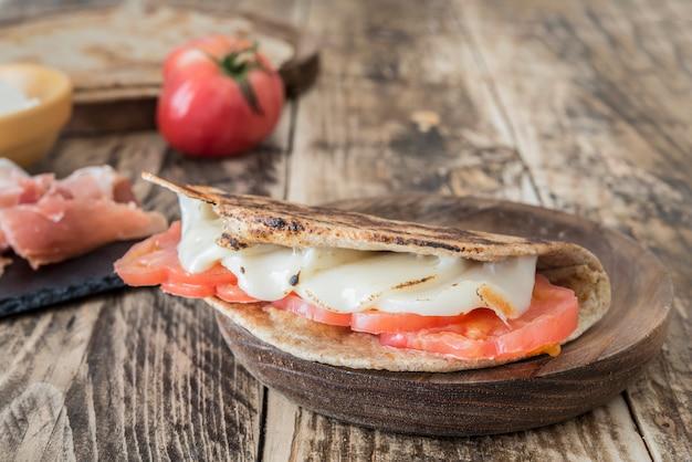 Piadina, comida típica italiana