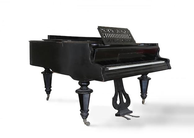Piano clássico em preto