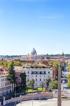 Piazza del popolo (vista da colina de pincho)