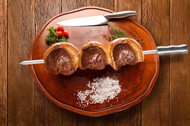 Picanha, tradicional churrasco brasileiro.