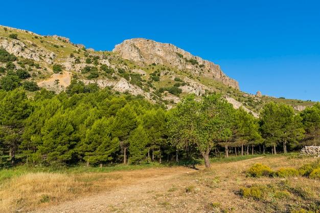 Pico de montcabrer na montanha mariola, cocentaina, alicante.