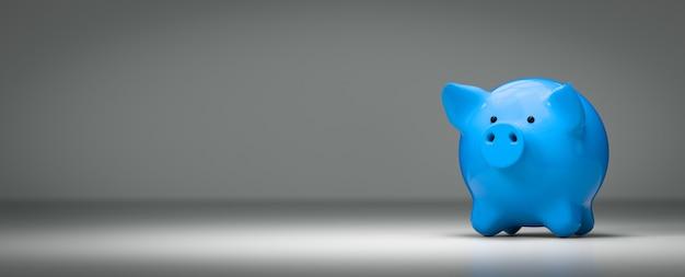 Piggy bank economiza investimento - renderização 3d