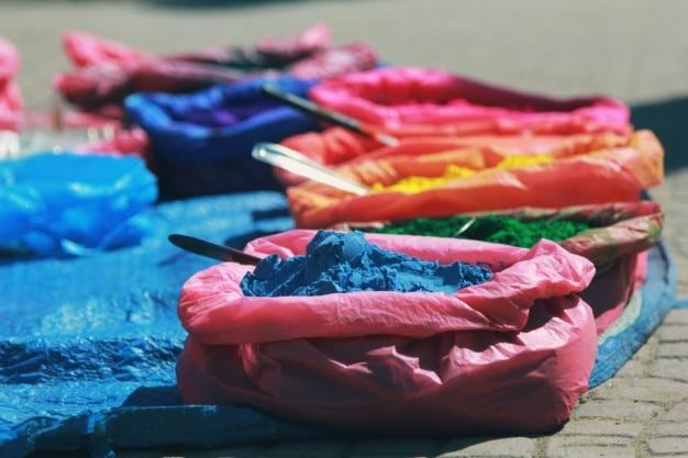 Pigmentos coloridos