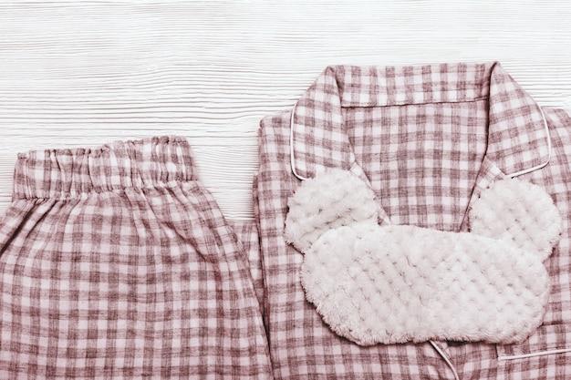 Pijama vermelho aconchegante para meninas, máscara de olho engraçado para dormir