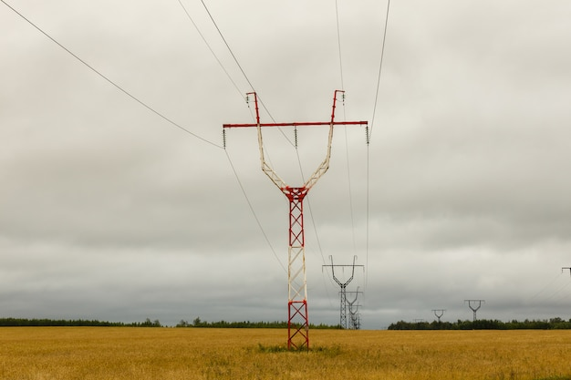 Pilão de transmissão de energia de alta tensão,