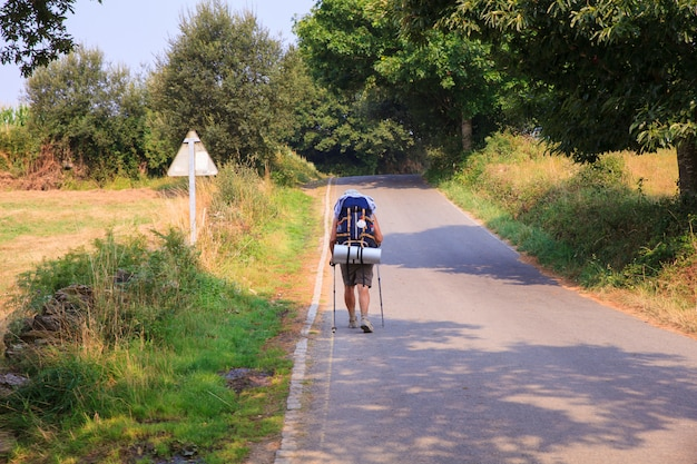 Pilgrimn ao longo do caminho de st. james