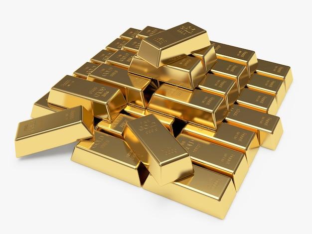 Pilha de barras de ouro