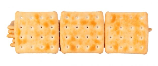 Pilha de biscoitos em branco